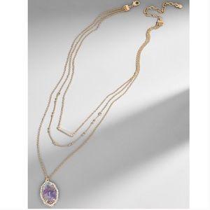 Baublebar Ellory Layered Pendant Necklace Purple
